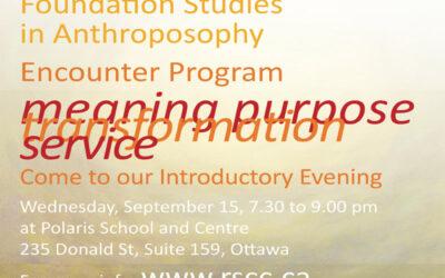 Foundation Studies Encounter in Ottawa 2021-22
